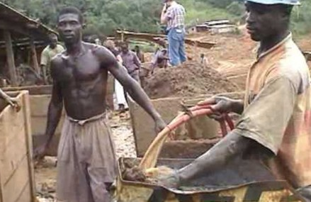 Mining of gold said to disrupt water course