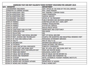List of the affected institutions.