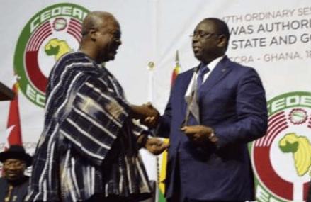President Mahama hands over ECOWAS leadership to Macky Sall