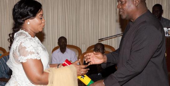 President Mahama swears-in new EC Boss
