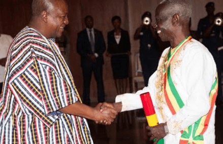 President Mahama honours Afari-Gyan with national Award