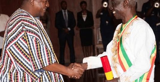 President Mahama honours Afari-Gyan with national Award