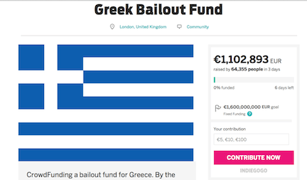 British man raises €1.1m in three days for Greece bailout