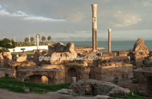 The ruins of Carthage in Tunis, Tunisia