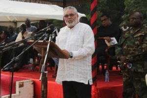 Former President Rawlings shuts office over COVID-19