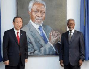 Ban Ki-moon and Kofi Annan