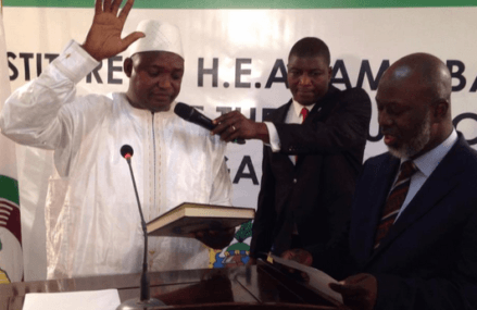 Adama Barrow inaugurated in Dakar as President of The Gambia