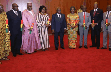 President Akufo-Addo presents credentials to eight new ambassadors