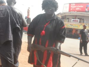 Sunyanimanhemaa's pre-burial funeral; lawless traditional warriors brutalising unsuspecting residents