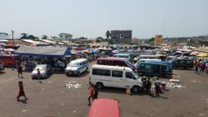 Accra, Tema bound commercial vehicles grounded in Ho