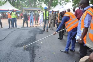 Bawumia cuts sod for construction to begin on barracks roads