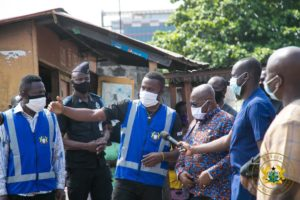 President tours voter registration centres in Accra