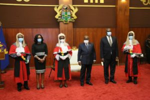 President inducts six new Appeal Court judges