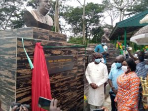 Tourism Ministry unveils busts in honour of Jake Obetsebi-Lamptey and Ferdinand Ayim