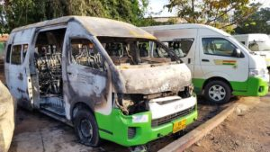 Secessionists allegedly attack Volta STC yard, torch buses