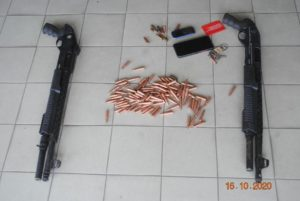 Police retrieves two guns and ammunition in robbery