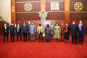 President inaugurates reconstituted Board of Ghana Boundary Commission