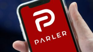 Parler website comes back online with 'lovers and haters' note