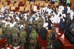 Ghana Parliament issues apologies for incidents at inauguration