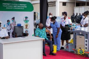 President Akufo-Addo gets first COVID-19 vaccination