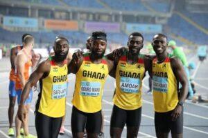 Ghana's quartet makes Olympic 4x100m final, set new national record