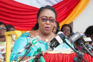Work is heartbreaking in Parliament with skirt and blouse – Tina Mensah